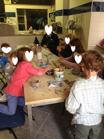 atelier de poterie enfants