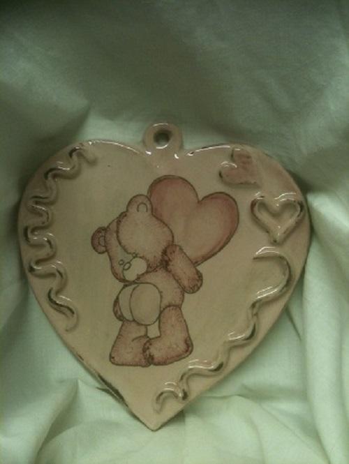 déco murale coeur rose