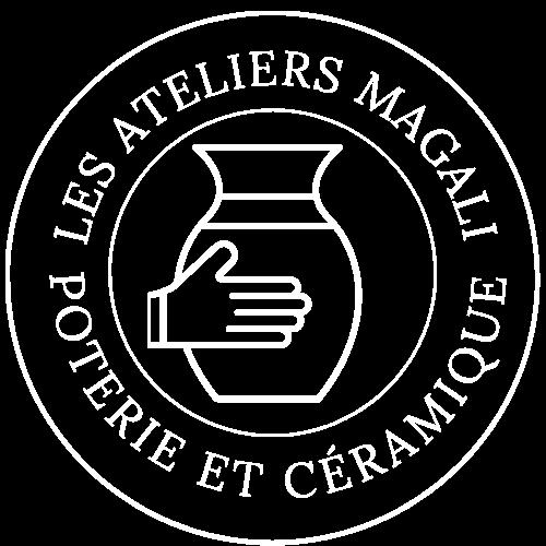 Logo les ateliers Magali blanc