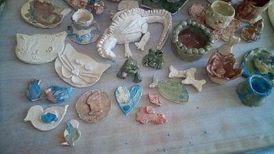 créations des enfants de l`atelier